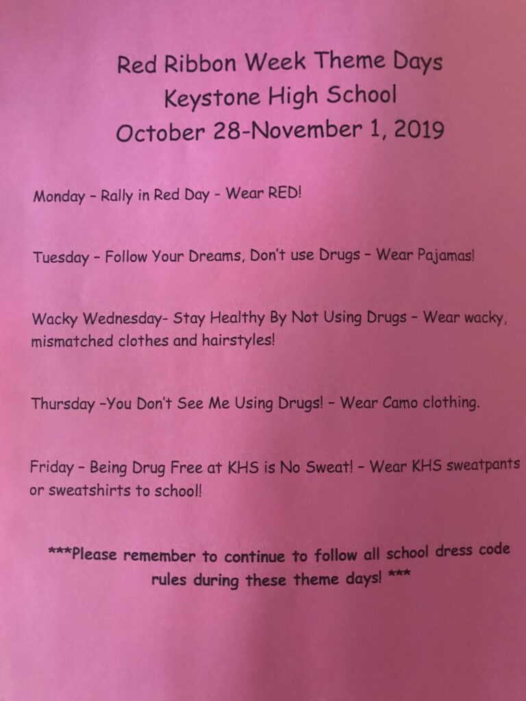Keystone- Red Ribbon Week